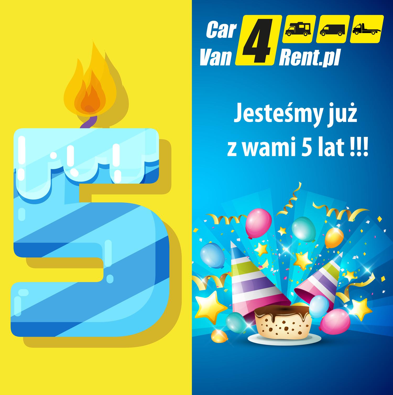 5 lat CarVan4Rent.pl